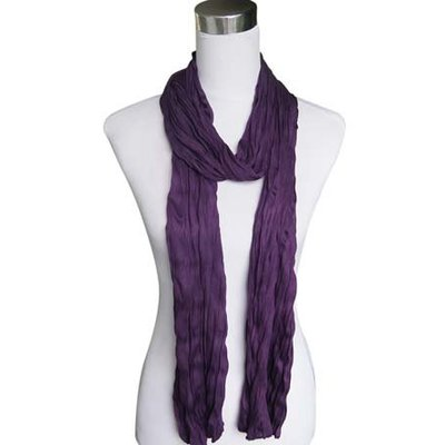"""Sjaal """"Uni Jersey S"""" donker paars"""