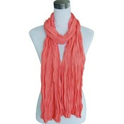 """Scarf """"Uni Jersey S"""" coral red"""