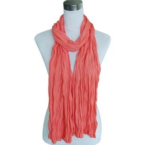 "Scarf ""Uni Jersey S"" coral red"