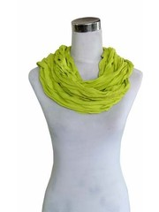 SCARF UNI JERSEY green yellow 861001-4020