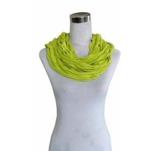SCARF UNI JERSEY green yellow 861001-4020
