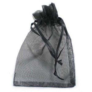 Organza bag, black 13x9 cm (2000)