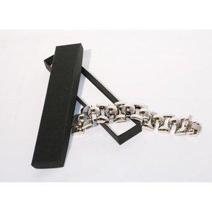 Armbanddoos, zwart, per 12st.