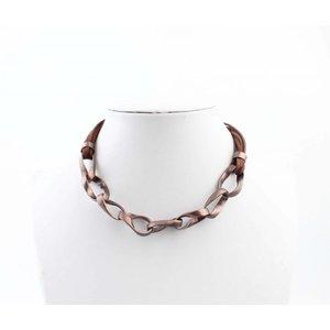 """Halskette """"Geschaltet Links"""" braun"""