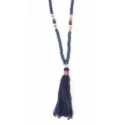 """Long necklace """"Isra"""" blue"""