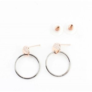 "Earring ""Ring & Strass"" rosé"