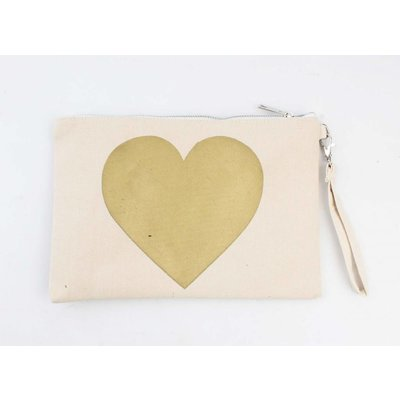 "Clutch ""Heart"" white"