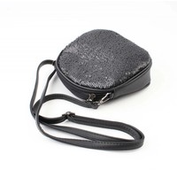 "Crossbody bag ""Sequins"" black"