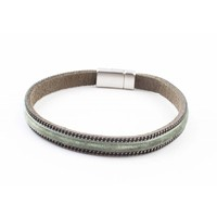 """Bracelet """"Velvet"""" kakhi Green"""