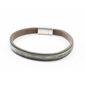 """Armband """"Fluweel"""" kakhi groen"""