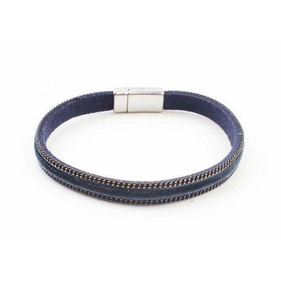 """Armband """"Fluweel"""" kakhi blauw"""