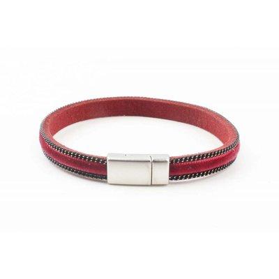 """Armband """"Velvet"""" Kakhi rot"""