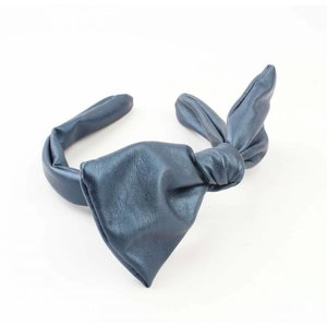 "Haar-reif ""stricken"" blau metallic"