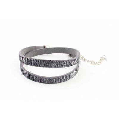 """Wrap bracelet """"Rhinestone"""" grey"""
