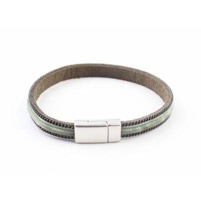 """Wristband """"Velvet"""" kakhi Green"""