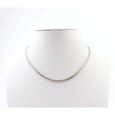 "Kurze Halskette ""Links S"" silber"
