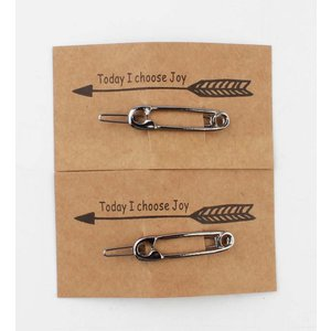 "Pin ""Safety pin"" silver, per 2pcs."