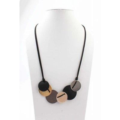 "Medium necklace ""Smile"" black/gold"