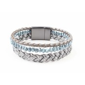 "Bracelet ""Braid"" blue"