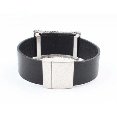 """Armband """"Bed of nails"""" zwart"""