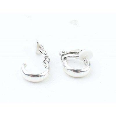 Clip oorbel 'Jinthe' zilver