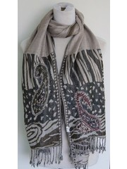 Scarf paisley brown