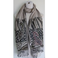 Sjaal paisley bruin