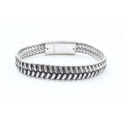 """Stalen armband """"Jente"""" zilver"""