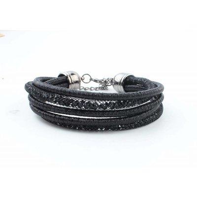 """Bracelet """"5-rows"""" black"""