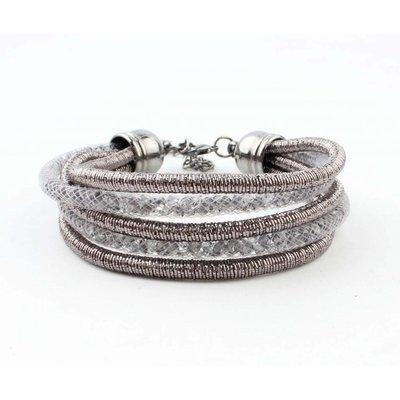 "Armband ""5-Zeilen"" grau"