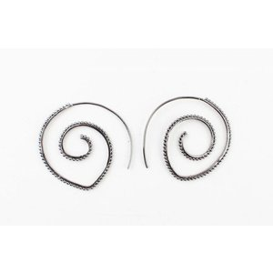 """Earring spiral """"Balls"""" anthracite"""