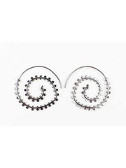 """Earring spiral """"duplicate rows"""" anthracite"""