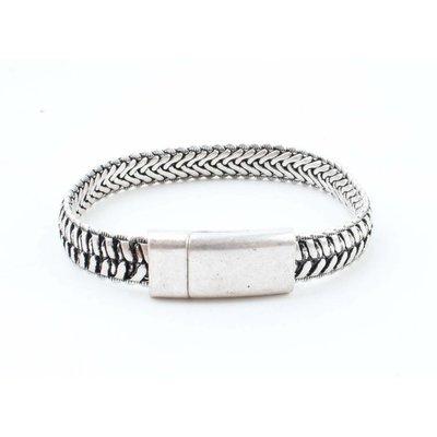 """Steel bracelet """"Wfa"""" silver"""