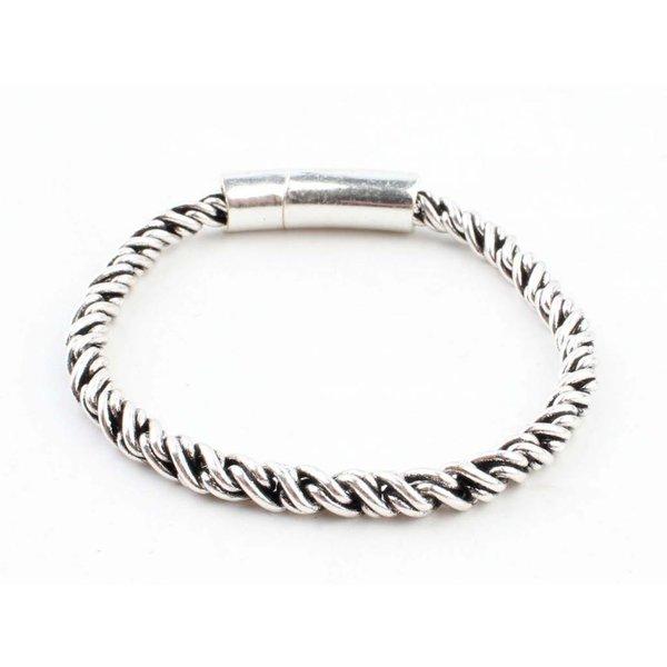 """Armband """"Poly"""" shiny zilver"""