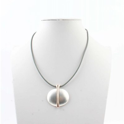 "Necklace ""Earth"" grey"