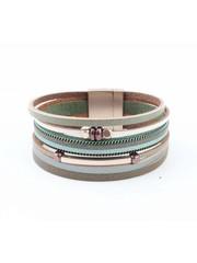 """Wrap bracelet """"Cube & Tube"""" green"""