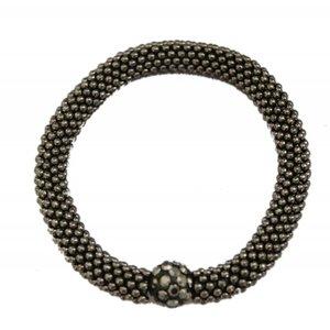 "Bracelet ""Rhinestone ball"" anthracite"