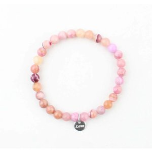 Bracelet natural stone rose quartz