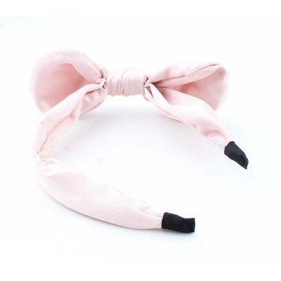 """Diadeem """"Strik & Pearl"""" roze"""