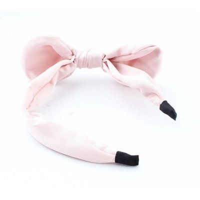 "Hair circlet ""Bow & Pearl"" pink"