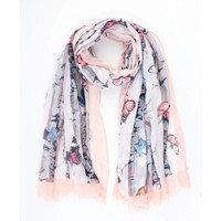 """Scarf """"Butterfly"""" pink"""