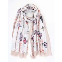 "Scarf ""Butterfly"" taupe"
