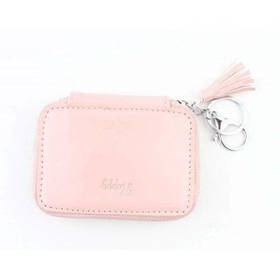 """Taschen Anhänger """"Happy"""" rosa"""