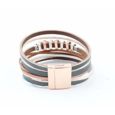 "Wrap bracelet ""Half moon"" rosé"