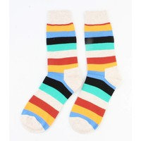 """Men socks """" Stripe """" taupe"""