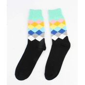 """Heren sokken """"Ruit"""" mint groen"""