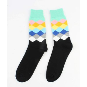 "Men socks ""Diamond"" mint green"