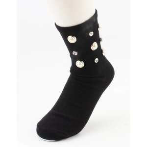"""Socken """"Glänzend"""" schwarz pro 2 Paar"""