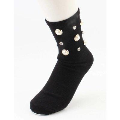 """Sokken """"glanzend"""" zwart per 2 paar"""