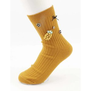 "Socks "" Pineapple "" ochre"